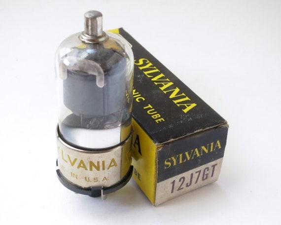 Sylvania 12J7GT vacuum tube new old stock original box