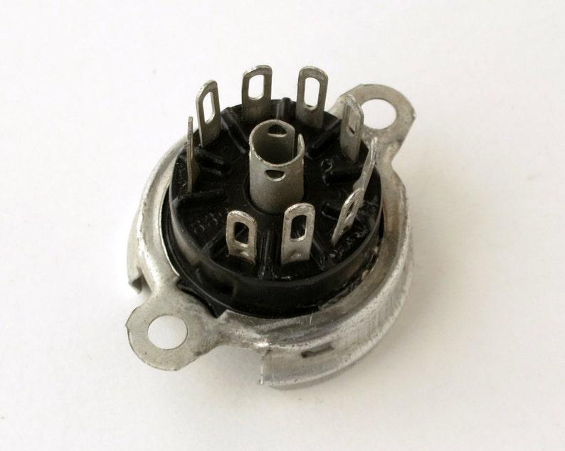 Fisher 400 and 500C replacement 9 pin miniature vacuum tube socket ECC82 tubes ECC83 12AU7 12AX7