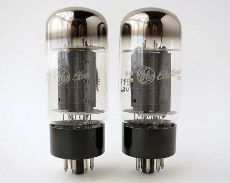 Matched pair: GE 8417 vacuum tubes matching date codes - manufactured by  Sylvania