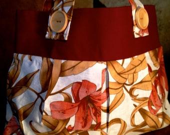 Bags and Purses Lily Handbags Hobo Bags Burgundy Floral Hobo Purse Floral Pleated Hobo Bag Lily Pleated Hobo Handbag Lily Linen Bag Hobo Bag