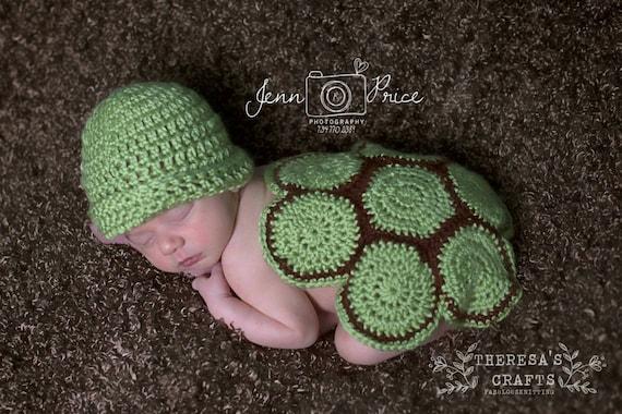 Häkeln Sie Schildkröte Baby Häkelanleitungen Foto Prop | Etsy