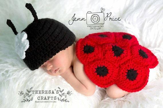 Marienkäfer Baby Outfit Baby Outfit häkeln Marienkäfer Baby | Etsy