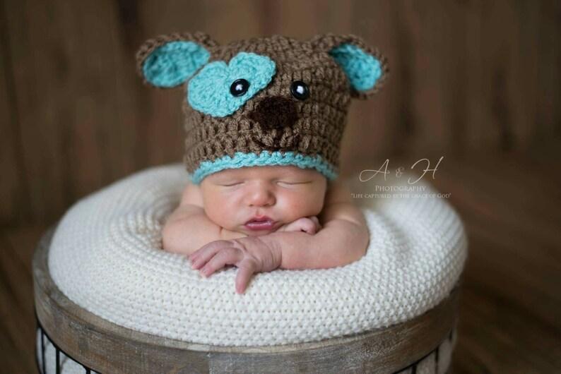 29a3788541f Puppy Dog hat Crochet puppy Dog Hat Dog Hat Newborn