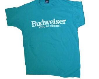 e8aeeea3 VINTAGE BUDWEISER t-shirt - 1980/90 vintage shirt, fun, graphic, shirt, neon