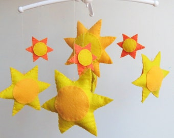 Nursery Mobile, Baby Mobile, Sunshine Mobile, You Are My Sunshine, Nursery Decor, Baby Shower Gift, Baby girl, baby boy, new mom, sun,