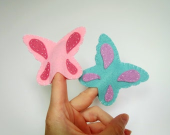 Butterfly Finger Puppet, Butterfly, Finger Puppet, Butterfly Puppet, Felt Toy, Soft Toy, Handmade Toy, Stocking Stuffer, Party Favor, Puppet