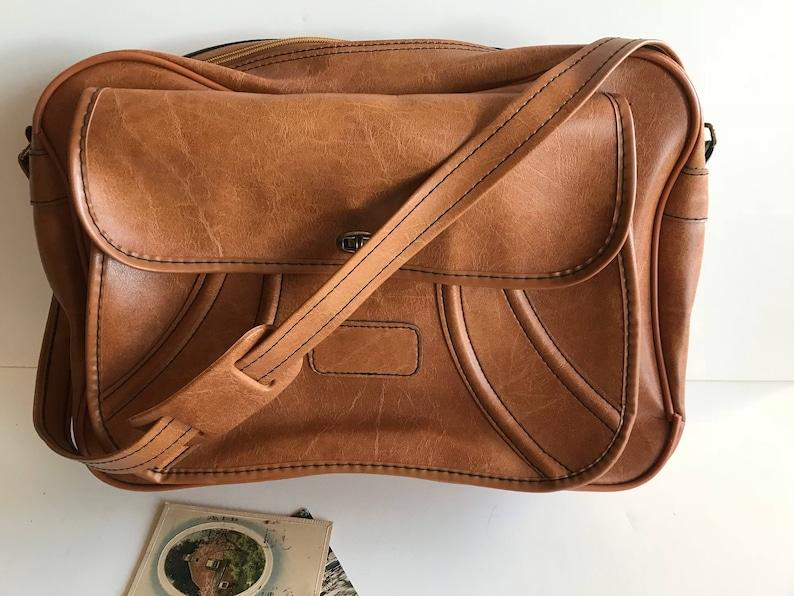 cf732217d776 Vintage Leather Attache Case / Cool Leather Briefcase