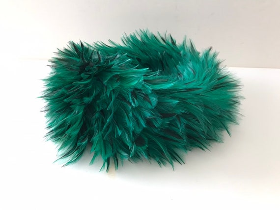 Gorgeous 1940's Green Feathered Hat by Saks Fifth