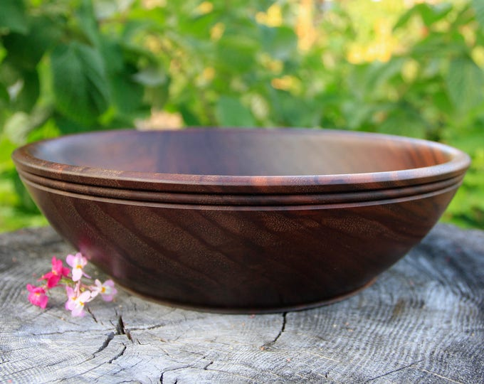 Black Walnut Serving Bowl