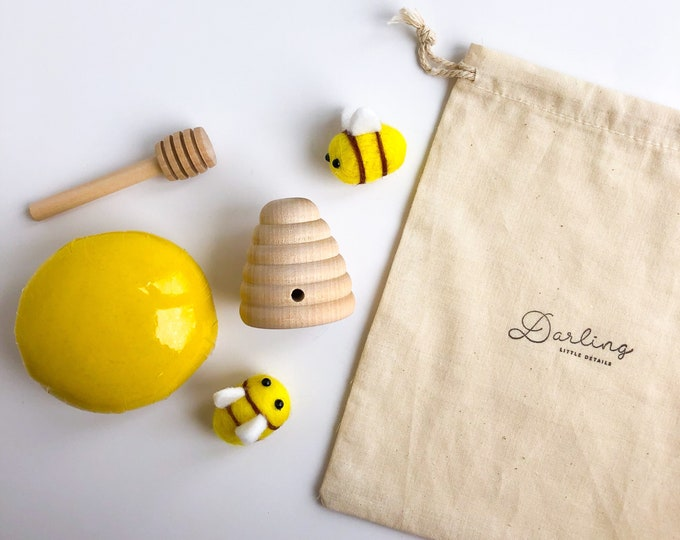 Honey Bee Mini Play Dough Kit | Toddler Playdough Kit | Toddler Sensory Kit | Toddler Toy | Bee Sensory Kit | Open Ended Toy