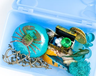 Ocean Adventures Play Dough Kit | Ocean Playdough Sensory Kit | Ocean Kit | Sea Toy | Beach Gift | Open Ended Toy | Busy Box | Treasure Kit