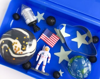 Astronaut Play Dough Kit | Playdough Kit | Sensory Kit | Outer Space Toy | Busy Box |  Open Ended Toy