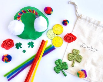 St. Patricks Day Play Dough Kit | Playdough Kit | Sensory Kit | Sensory Play | Irish Toy | Ireland | St. Pats