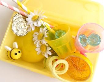 Lemonade Stand Play Dough Kit |  Lemonade Playdough Sensory Kit | Sensory Kit | Summer Kit | Kids Gift | Busy Box | Open Ended Toy