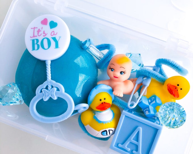 Baby Brother Play Dough Kit | New Baby Sensory Kit | Baby Boy Playdough Kit | Kids Busy Box | Open Ended Toy | New Sibling Toy