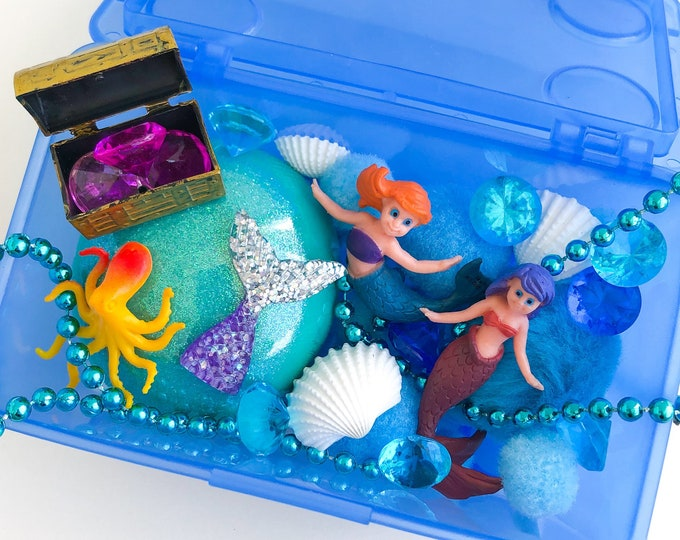 Under the Sea Play Dough Kit | Mermaid Playdough Kit | Ocean Sensory Kit | Sea Toy | Beach Gift