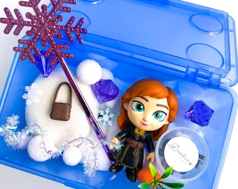 Anna Play Dough Kit | Frozen Sensory Kit | Princess Playdough Kit | Olaf | Snow Kit | Open Ended Toy