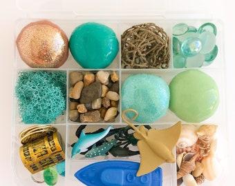 Ocean Explorer Deluxe Play Dough Sensory Kit | Sea Playdough Sensory Kit | Busy Box | Montessori Toy | Open Ended Toy