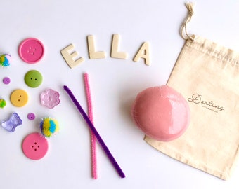 Pastel Custom Name Mini Play Dough Sensory Kit