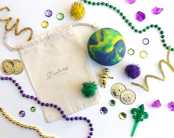 Mardi Gras Play Dough Mini Kit | Playdough Kit | Sensory Kit | Mardi Gras Toy | New Orleans Toy | Nola