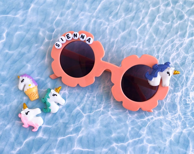 Unicorn Personalized Sunglasses | Kids Daisy Sunglasses | Customized Sun Glasses | Custom Sunnies | Daisy Glasses | Kids Sunglasses