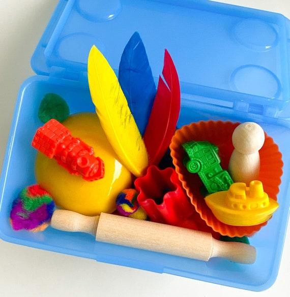 Toddler Mini Play Dough Kit | Playdough Sensory Kit | Playdough Kit | Sensory Bin | Open Ended Toy | Montessori Toy