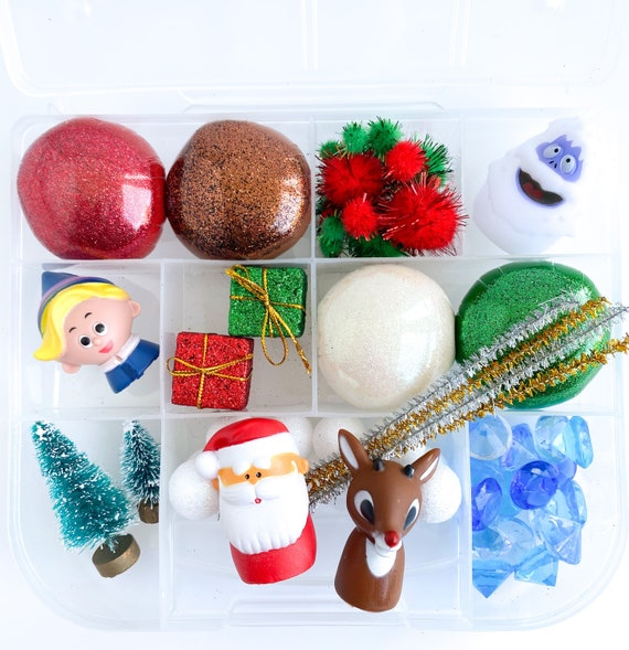 Rudolph Signature Play Dough Sensory Kit  Christmas Playdough