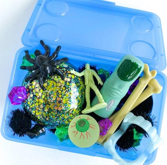 Preorder Spooky Halloween Mini Play Dough Kit | Playdough Sensory Kit | Playdough Kit | Sensory Bin | Open Ended Toy | Montessori Toy