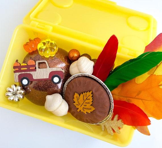 Thanksgiving Mini Play Dough Kit | Fall Playdough Sensory Kit | Harvest Playdough Kit | Turkey Sensory Bin | Open Ended Toy | Montessori