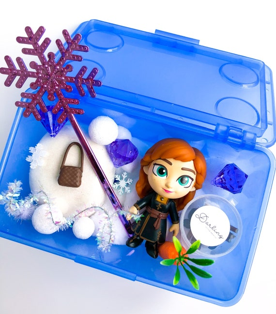 Anna Play Dough Kit | Frozen Sensory Kit | Princess Playdough Kit | Olaf Sensory Play | Snow Playdoh Kit | Open Ended Toy