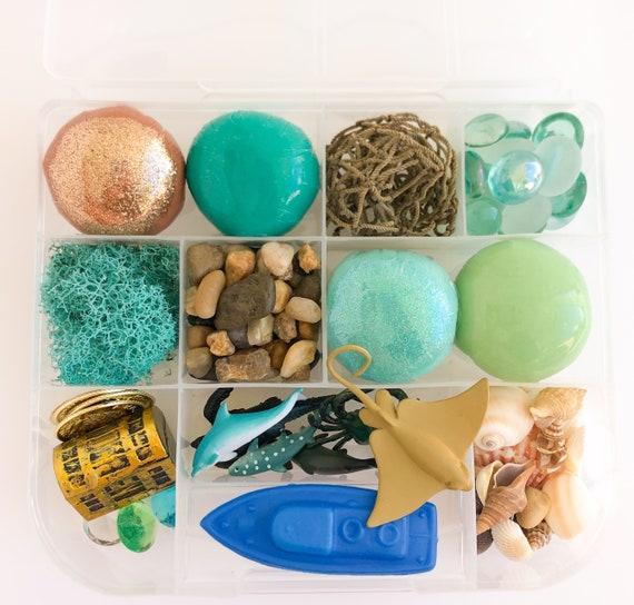 Ocean Explorer Signature Play Dough Sensory Kit | Sea Playdough Sensory Kit | Busy Box | Montessori Toy | Open Ended Toy