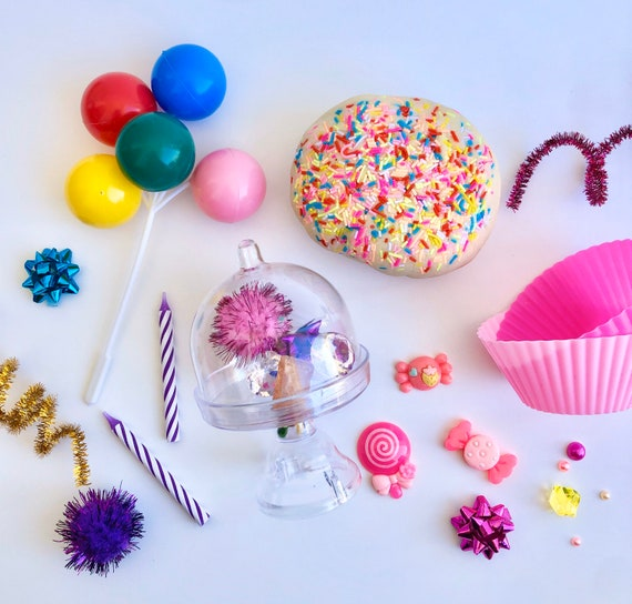Birthday Mini Play Dough Kit | Playdough Sensory Kit | Birthday Gift | Birthday Toy | Open Ended Toy