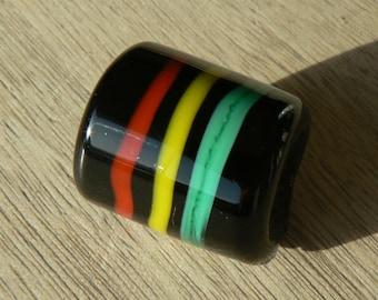 DREADLOCKS beads - RASTA 3 lignes - glass bead dreadlock locs dreadlocks beaddreadlocs - locs - dreadloc - loc