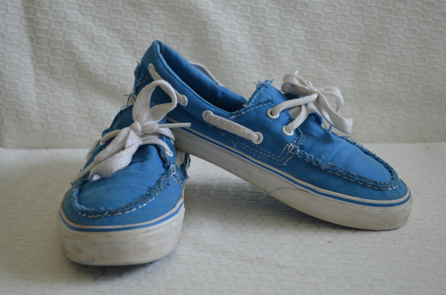 05e6f83132 Throwback Bright Blue  Vans  Boat Shoes Women s