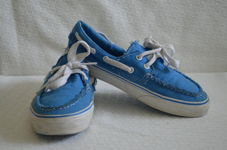 e7320122b6 Throwback Bright Blue  Vans  Boat Shoes Women s