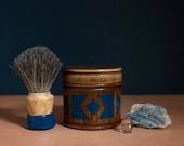 "Shaving Kit : Geometric Handpainted Dark Teal Design, ""The Victor"""