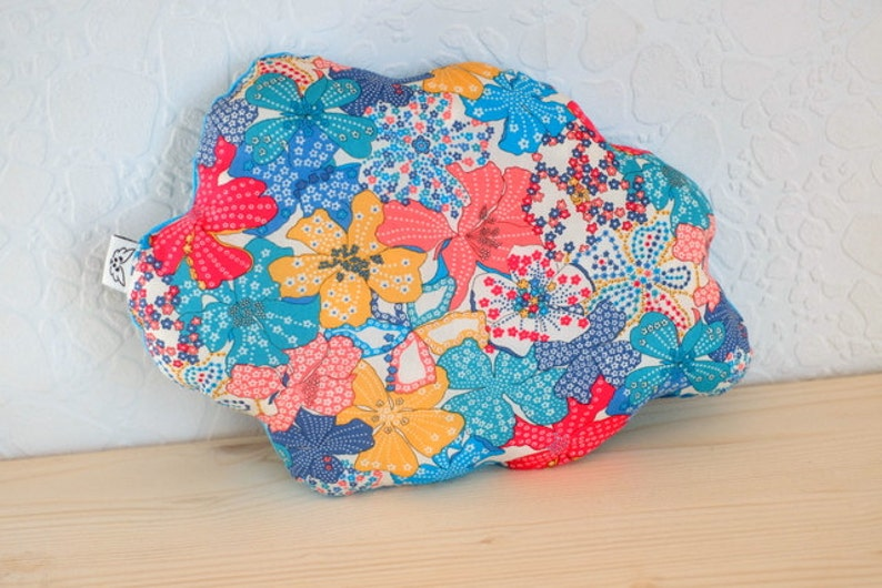 Cushion cloud blue liberty mauvey turquoise multicolor  baby image 0