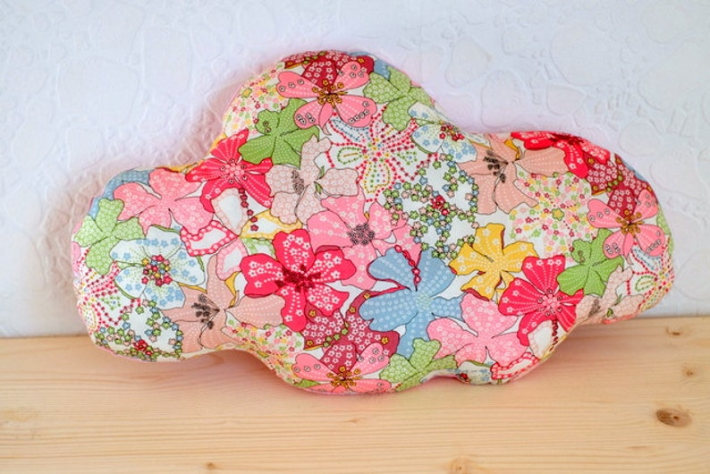 Cloud pillow liberty mauvey pink multicolor  baby room image 0