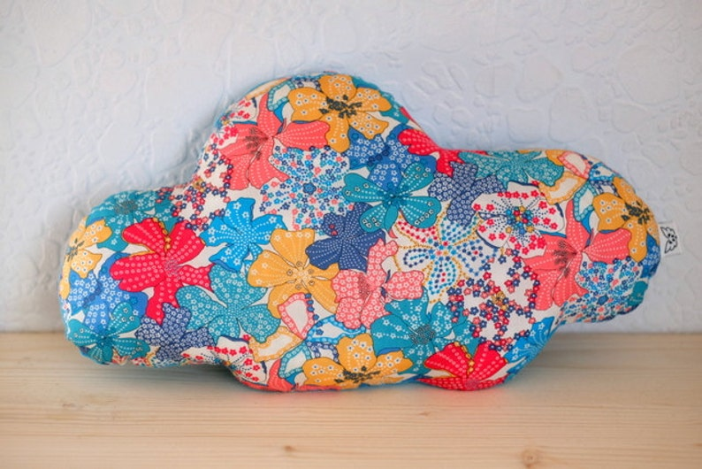 Cushion cloud liberty. multicolored blue mauvey  baby room image 0