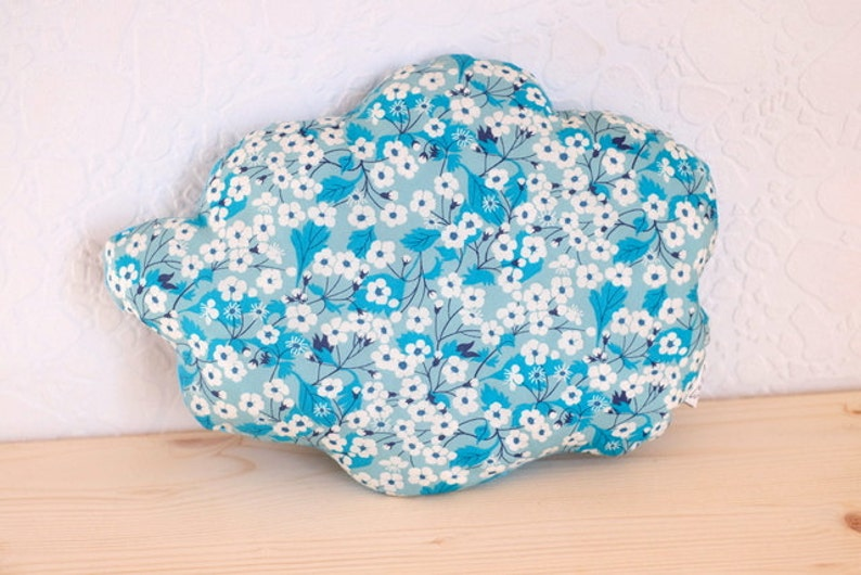 Cloud pillow liberty mitsi Mint blue water  baby room image 0