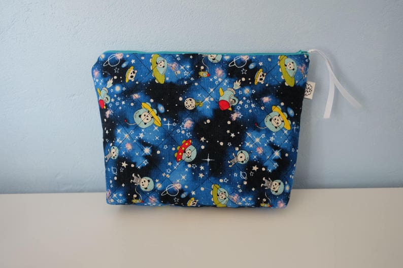 child's Toiletry Kit. clutch purse. pouch panda cosmic image 0
