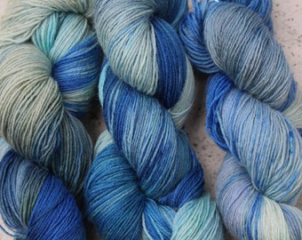Sea Foam - Hand painted pure wool yarn