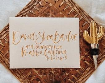 Brush Calligraphy Hand Lettered Envelope Addressing, Hand Lettered Envelopes, Wedding Envelope, Custom Envelope Addressing