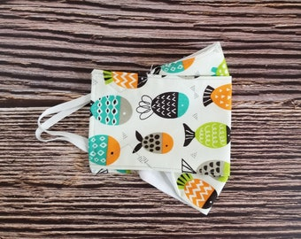 Adult Face Mask, Reusable, Face Covering, Fabric, Washable, Mask, Fish, Cute, Funny, Neutral
