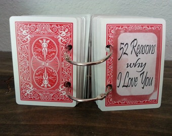 52 reasons Why I love you - a custom, creative gift for someone special