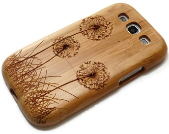 SALE Wood case for Samsung Galaxy S3  - wooden S3 case walnut / cherry or bamboo -  Dandelion