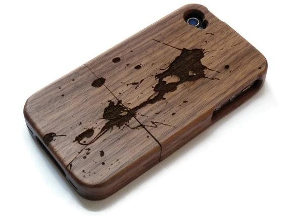wooden Iphone 4 case   iphone 4S case wood iphone 4 case  e36cbda66