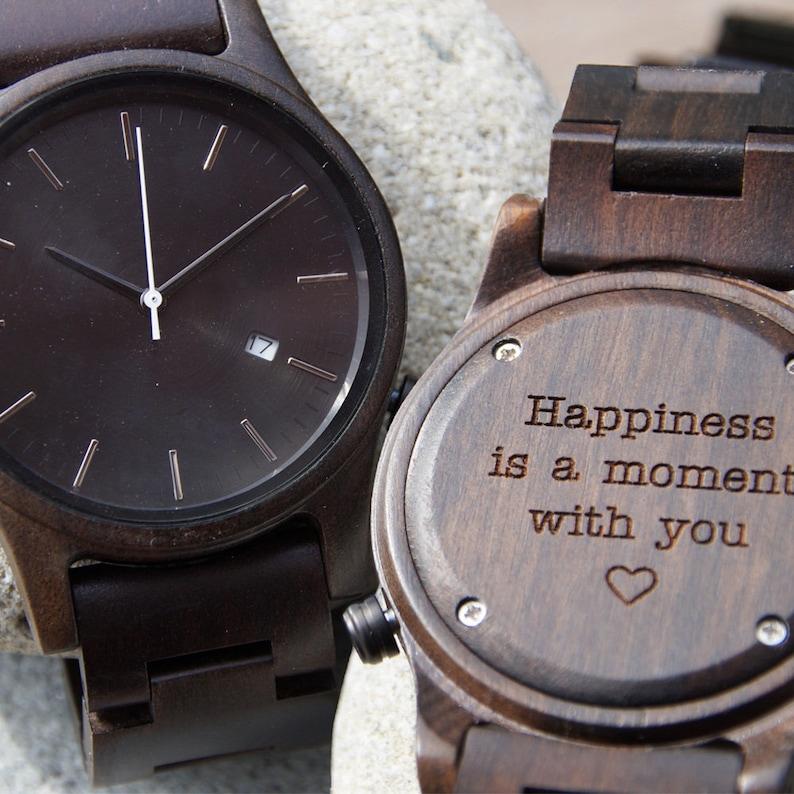 b8b86aae94b5c Christmas gift Personalized Watch Wood watch Women