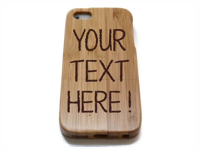 case wood /& 8PLUS Iphone 8 wooden iphone 8 Custom text and 8PLUS cherry or bamboo wood case walnut