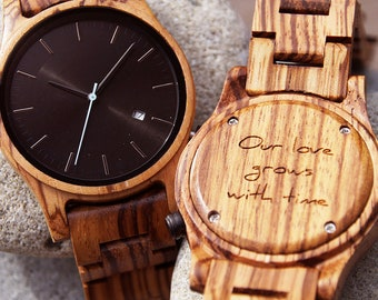 Wooden Watch, Personalized Watch, wood watch, women watches, engraved watch, wood watch men, womens watch, anniversary gift, personalized